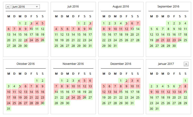 Belegungs-Kalender