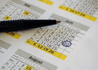 Buchungs-Kalender